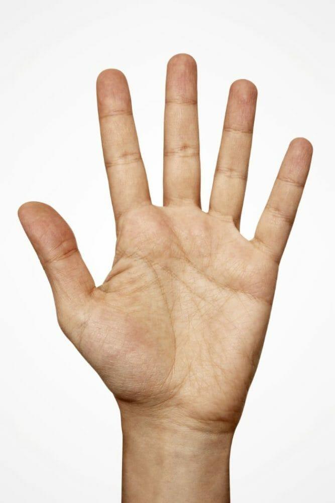männliche Hand