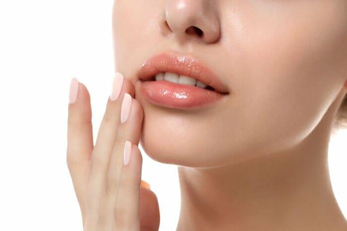 Lippen von Frau