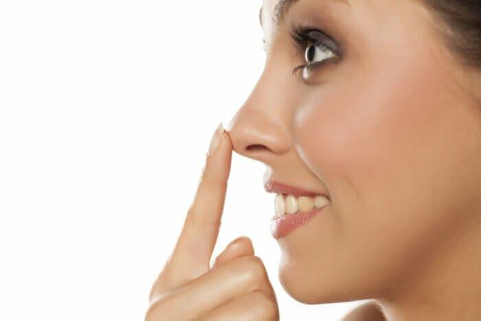 Nase von Frau