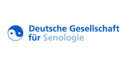 blaues Logo von Senologie